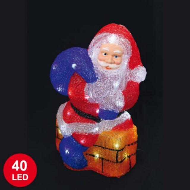 Père Noël lumineux 37,5cm