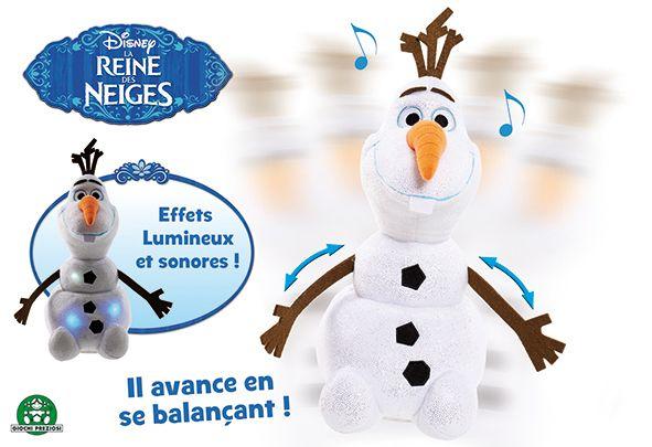 LA REINE DES NEIGES Peluche Olaf Lumineuse - Avance et se balance - 30 cm - 5909