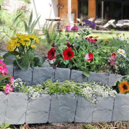 Ose bordures de jardin imitation pierre par 10 pas - Bordure de jardin en pierre pas cher ...