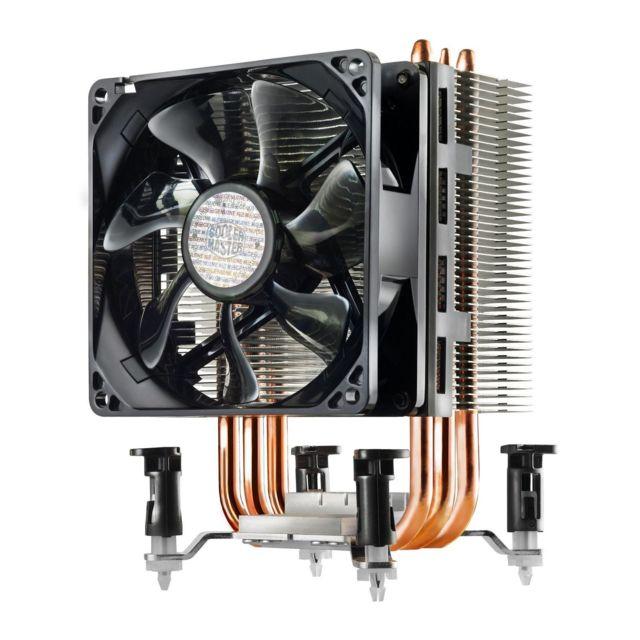 COOLER MASTER Ventirad pour processeur COOLERMASTER Hyper TX3i Compatible avec les socketsIntel 1156 / 1155 / 1151 / 1150 / 7753 caloducs en cuivreVentilateur de 92 mm à hautes performancesVentilateur PWNAjout d'un deuxième ventilateur