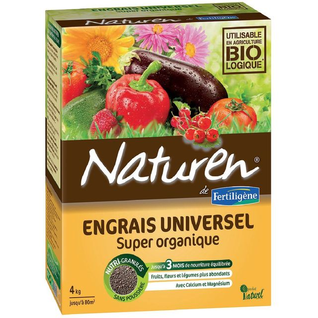 Naturen Engrais complet super organique Sac 4kg