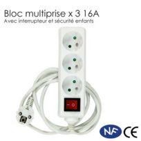 Pack Energie - Bloc multiprises x 3 avec interrupteur