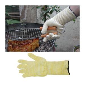 msv gant barbecue anti chaleur jaune et blanc pas cher achat vente gants de cuisine. Black Bedroom Furniture Sets. Home Design Ideas