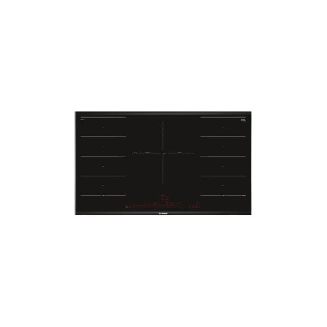 bosch plaque induction pxv975dc1e 90 cm noir 3 zones de. Black Bedroom Furniture Sets. Home Design Ideas