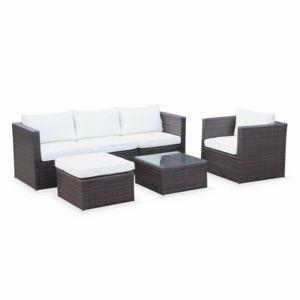 alice 39 s garden salon de jardin benito marron en r sine. Black Bedroom Furniture Sets. Home Design Ideas