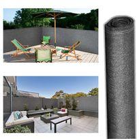 Idmarket - Brise vue renforcé 2 x 10 m gris 220 gr/m² luxe pro