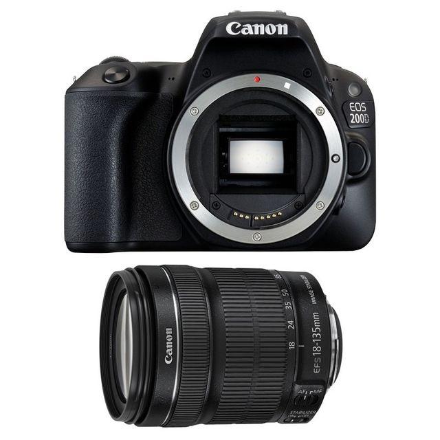 Canon Eos 200D + Ef-s 18-135 mm f/3.5-5.6 Is Stm Garanti 3 ans