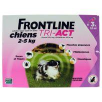 Frontline - Pipettes Antiparasitaire Tri-Act pour Chien de 2 à 5Kg - 3x0,5ml