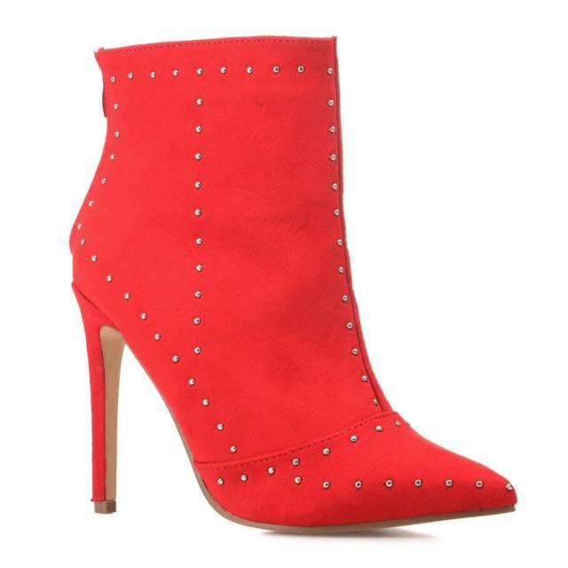 Chaussures rouges en cuir femme Acheter en ligne pas cher