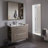 meuble salle de bain gris - achat meuble salle de bain gris pas ... - Salle De Bain Bois Gris