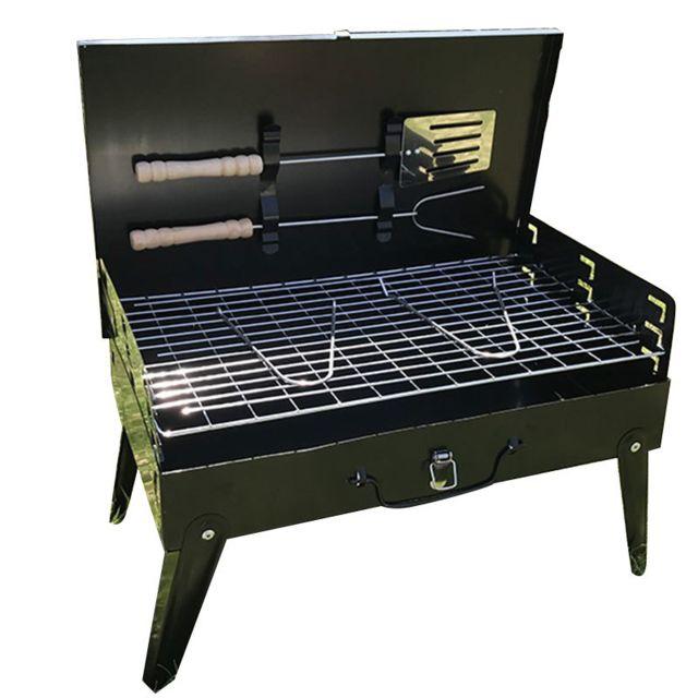 Arzopa - Barbecue à charbon Pliable avec Grille réglable pour Camping Pique-nique Extérieur