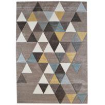Tapis Ella 500 triangle gris 120x170cm