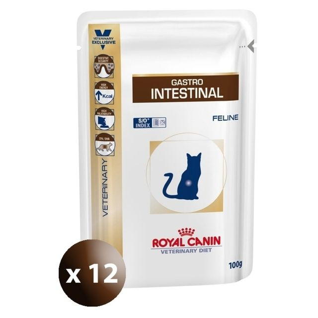 royal canin sachets veterinary diet gastro intestinal pour chat 12x100g pas cher achat. Black Bedroom Furniture Sets. Home Design Ideas