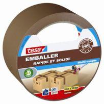Tesa - Adhésif Pp Emballer rapide et solide marron 66m