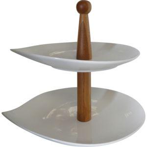 alin a pise serviteur g teaux en porcelaine 2 tages pas cher achat vente plateau. Black Bedroom Furniture Sets. Home Design Ideas