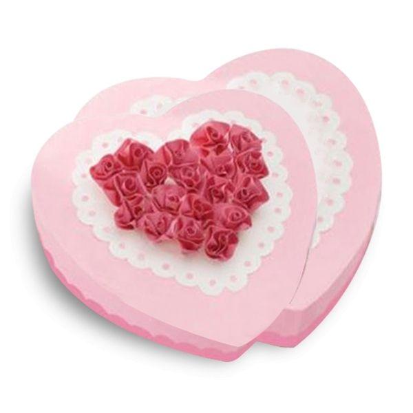 Totalcadeau Moule à gâteau en silicone duo de coeur
