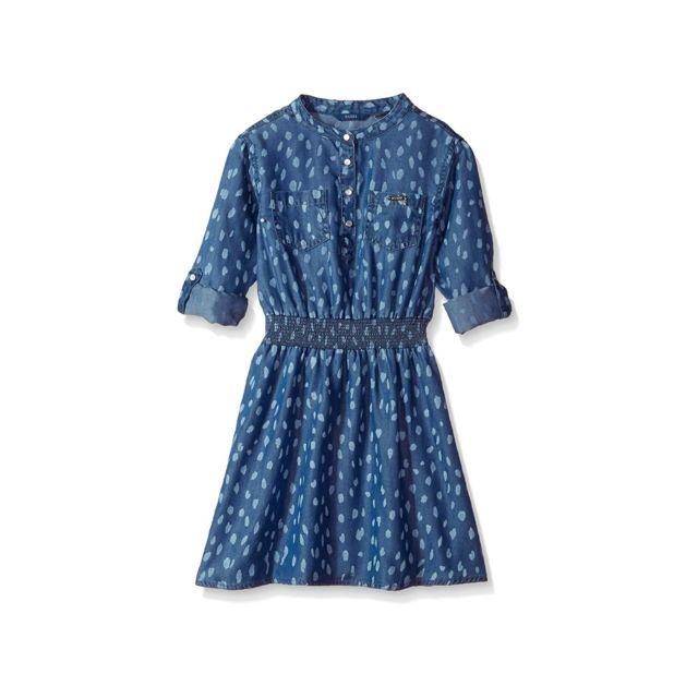 623e2d88b5fbc Guess - Robe Fille Manches ajustables Bleu - Taille - 8 ans - pas cher Achat    Vente Robe enfant - RueDuCommerce