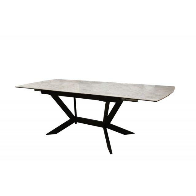 Meubletmoi Table extensible en céramique - Luna