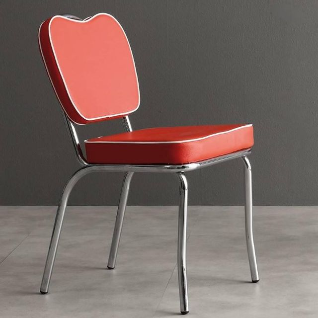 Inside 75 Chaise sixties Happy Days rouge