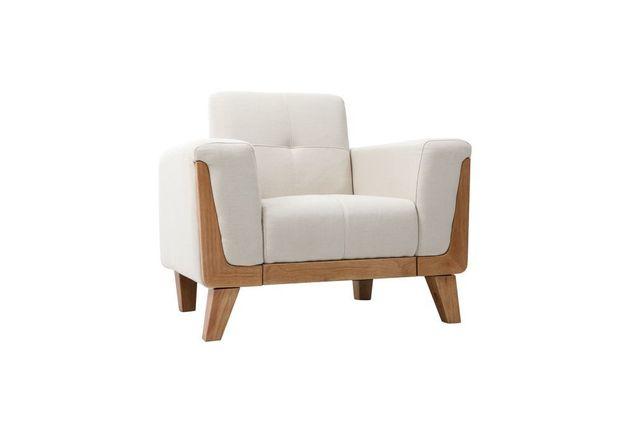 miliboo fauteuil scandinave blanc cass pieds bois fjord lelogisdelagrange. Black Bedroom Furniture Sets. Home Design Ideas