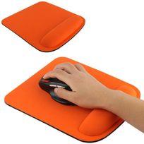 Yonis - Tapis de souris ergonomique repose poignet ultra fin orange