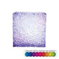Home Sweet Light - Cube Led effet cristal - 7 cm