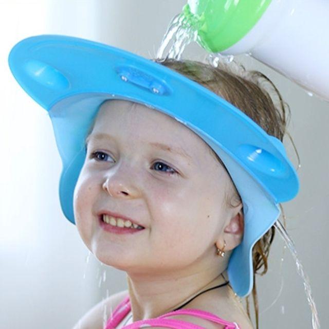 2203be0465c1 Wewoo - Bonnet Chapeau pour bébé Casquettes de douche réglables en silicone  de d enfants