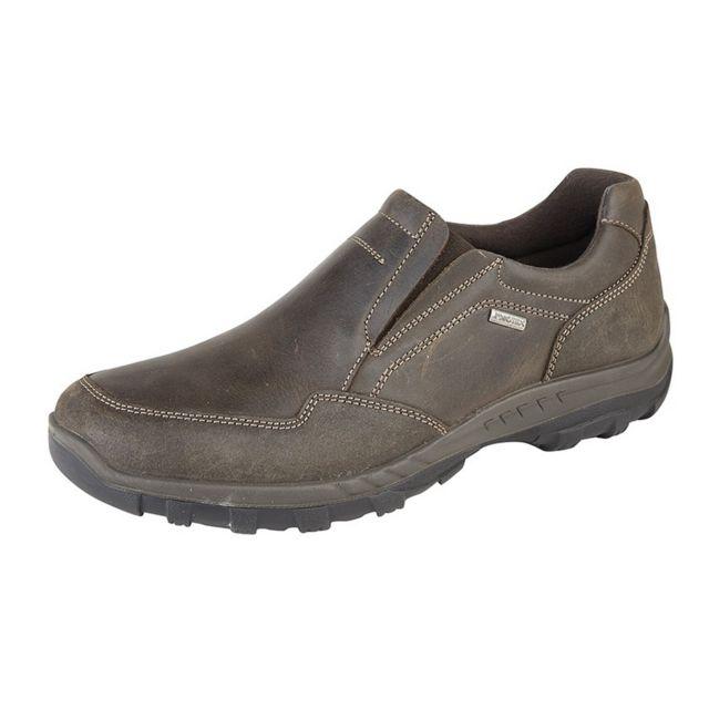 Imac Chaussures résistant à l'eau en cuir - Homme 45 Eu, Marron Utdf1442