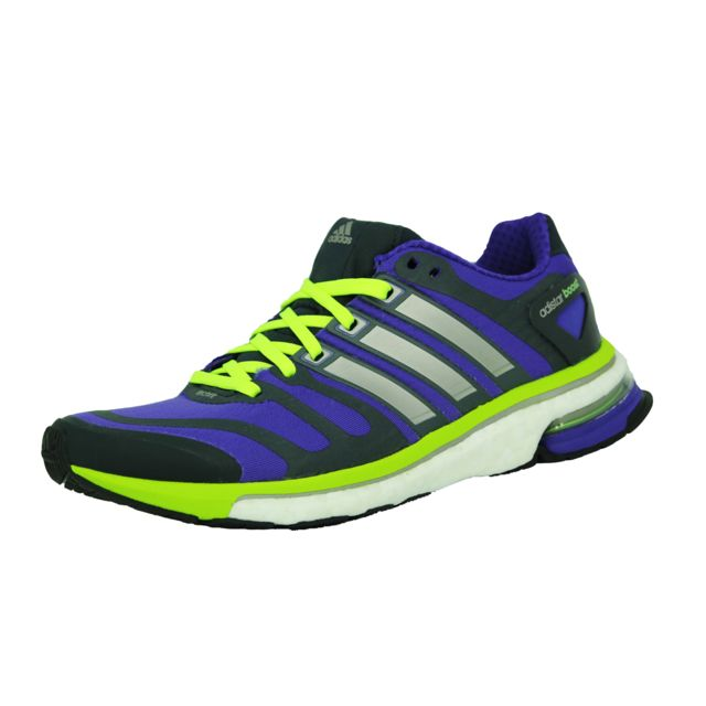 brand new 65af5 60713 Adidas performance - Adidas energy boost m chaussures de course running  femme violet noir techfit