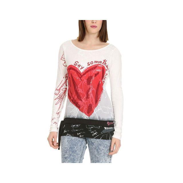 Achat Pas Desigual Vente Rep Shirt Tee Ml Cher Terix n0vNwOy8Pm