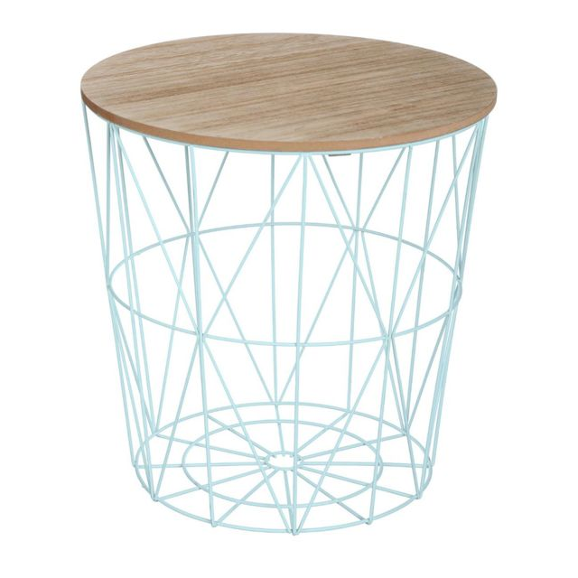 atmosphera table basse kumi bleue pas cher achat vente meubles tv hi fi rueducommerce. Black Bedroom Furniture Sets. Home Design Ideas