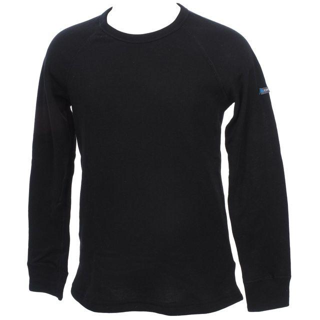 Odlo - Sous vêtements thermiques chaud Warm noir rdc ml tee jr Noir 72880
