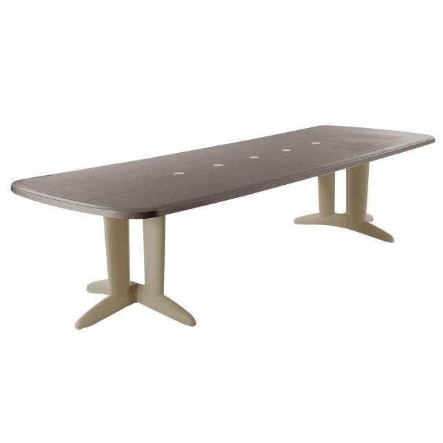 Evolutif - Table de jardin extensible Résine 180/250x320cm ...