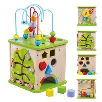 Sun Baby - Boîte interactive en bois jeu éducatif bébé enfant 18m+ | Multicolore
