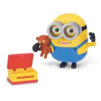 Mtw Toys - Figurine de luxe Minions : Bob et son ours en peluche