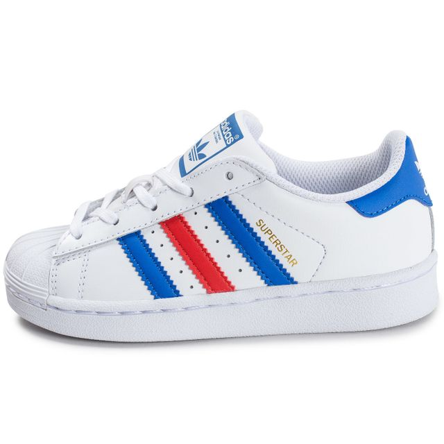 Adidas originals - Superstar Enfant Bleu Blanc Rouge
