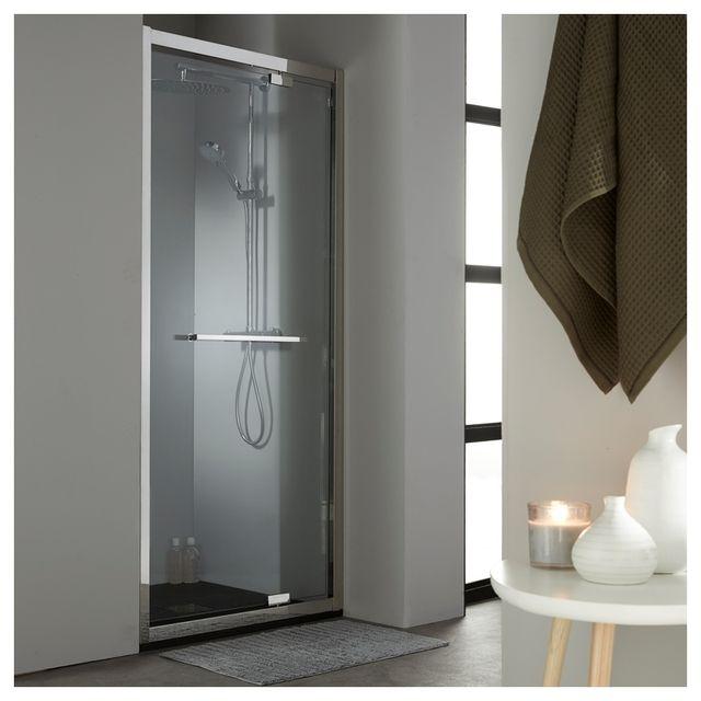 planetebain porte de douche pivotante 90 cm en inox chrom pas cher achat vente cabine de. Black Bedroom Furniture Sets. Home Design Ideas