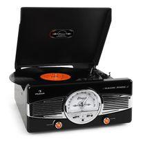 AUNA - MG-TT-82B Platine vinyle FM look rétro - noir