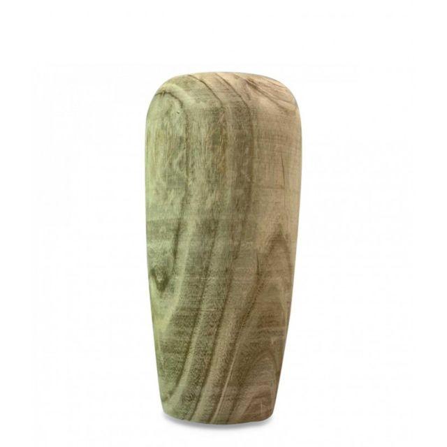 Wadiga Grand Vase en Bois - Hauteur 55cm