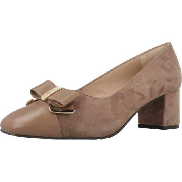 Sitgetana Mocassins et chaussures bateau femme 30407, Marron