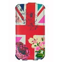 Accessorize - Etui à clapet motif drapeau Uk et fleurs pour Samsung Galaxy Siii