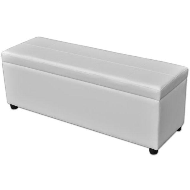 Vidaxl Banc de rangement en bois Blanc | Blanc