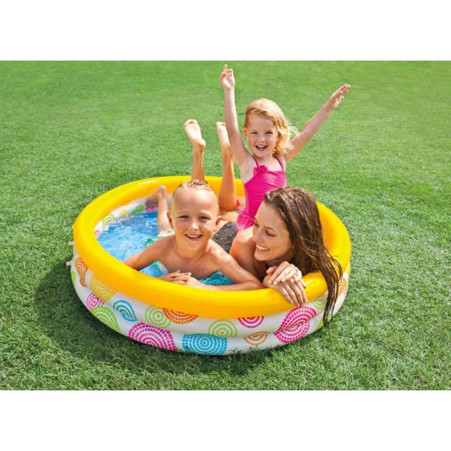 Intex piscine gonflable ronde psych 1 pas cher achat vente piscines gonflables - Piscina bebe carrefour ...