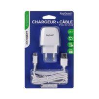 Keyouest - 2.4 A - Charge tres rapide - Longueur du câbleMicro Usb : 1.20 m