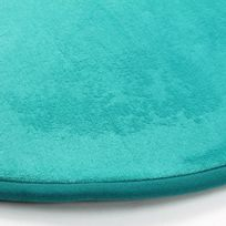 mon beau tapis tapis rond turquoise - Tapis Turquoise