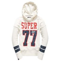 Superdry - Varsity Slouch Sweat Capuche Femme No Name