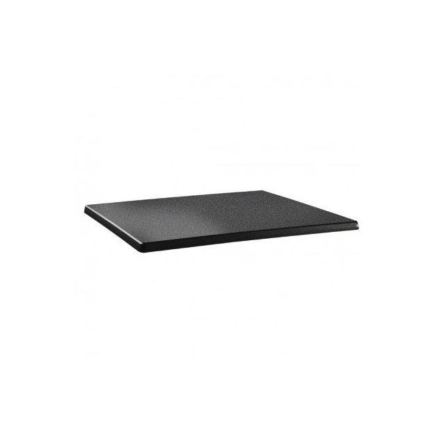 Topalit Plateau de table rectangulaire anthracite 1100 x 700 mm - Anthracite 1100 mm