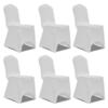 Rocambolesk - Superbe Housse blanche extensible pour chaise 6 pièces Neuf