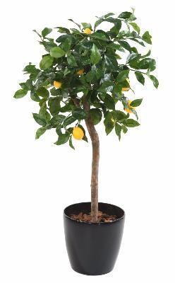 artificielflower arbre artificiel fruitier citronnier tte en pot intrieur h110 cm - Arbuste Artificiel Exterieur Pas Cher
