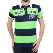 RG512 - Polo Geographical Norway Kimporte Ss Men 100 Vert/Navy